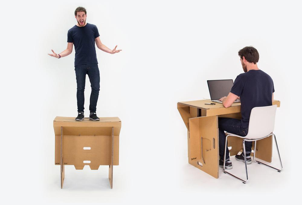 Refold le bureau debout en carton for Bureau debout