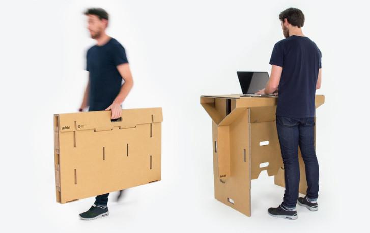 Assez Refold : le bureau debout en carton YH47